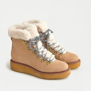 J.CREW Nubuck Winter Boots With Wedge Crepe Sole